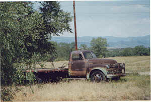 "This old chevy was used for ""Down on the Farm"" and spotted in Colorado"